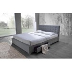 SARAH WD-8497 FABRIC BED WITH 4 DRAWERS