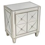 BENTLEY MIRROR BEDSIDE TABLE - 41129