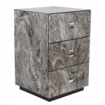MARBLE EFFECT BEDSIDE TABLE - 41145