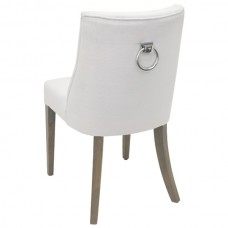 OPHELIA WHITE DINING CHAIR - 42001