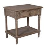 POLO OAK WASH RATTAN SIDE TABLE - 48082