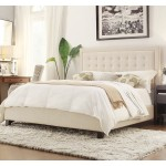 ITALIAN DESIGN JENSEN double bed frame Fabric BEIGE