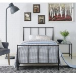 Italian Design Kathy Double Bed Frame Metal Grey Black