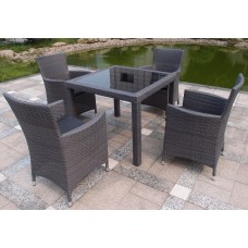 Cooma 5-Piece Outdoor Dining Setting Grey