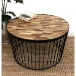 TITAN COFFEE TABLE WITH PARQUETRY TOP - E430038