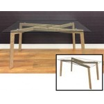 IVER MID CENTRY GLASS TABLE - E535008