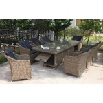 Liverpool 9-Piece Outdoor Dining Setting Rectangle