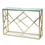LENARD GOLDEN POLISH CONSOLE TABLE